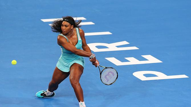 Serena Williams Perks Up After A Coffee Break At Hopman Cup Yahoo