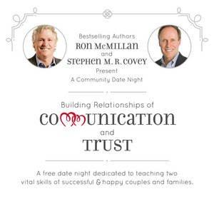 Ron McMillan and Stephen M. R. Covey Present a Community Date Night to Help Utah Couples Improve Relationships
