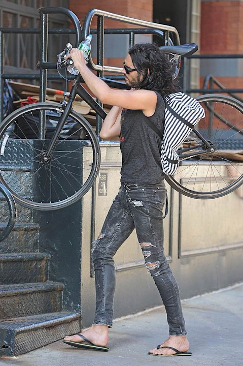 Russell Brand Bike Riding