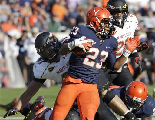 Diggs, Hills lead Maryland past Virginia 27-20