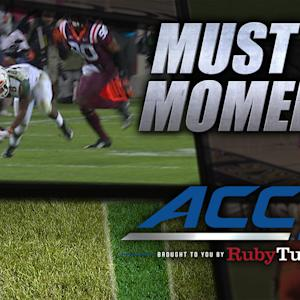 Miami's Brad Kaaya Gets Drilled and Throws Perfect Pass | ACC Must See Moments