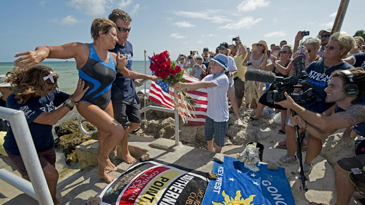 Diana Nyad Makes Another Attempt To Swim The Florida Straits Without Shark Cage