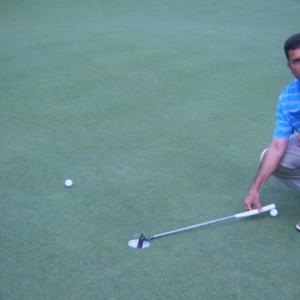 Breaking putts at Valhalla