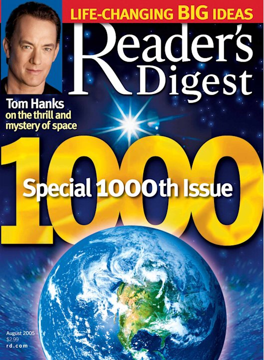 In this 2005 magazine cover provided by Reader's Digest magazine, the 1,000th issue of the 83-year-old mini magazine, is shown.  The parent company of Reader's Digest has filed for Chapter 11 bankrupt