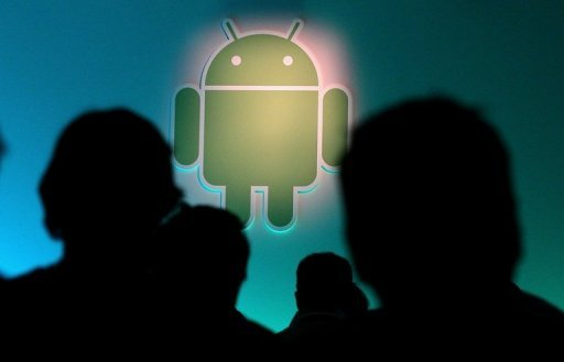 <p>The Android logo is displayed during a press event at Google headquarters in 2011 in Mountain View, California. The Google Android platform extended its lead in the US smartphone market while Apple increased its market share to nearly a third in March through May, a survey showed Monday.</p>