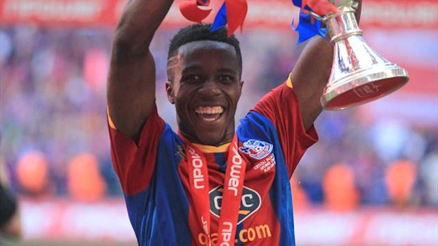 Crystal Palace's Wilfried Zaha celebrates winning the Football League Championship play off final