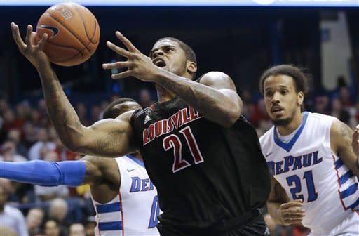 Balanced Louisville beats DePaul 79-58