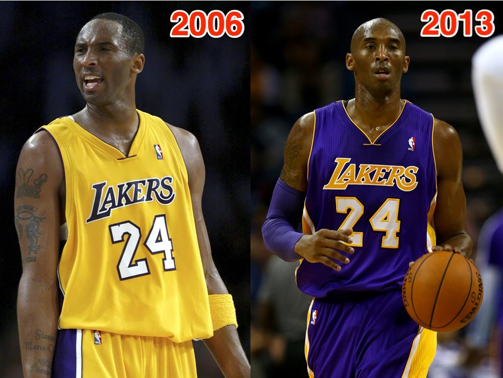 kobe bryant weight loss