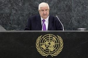 Syrian Foreign Minister Moualem addresses the 68th session of the U.N. General Assembly in New York