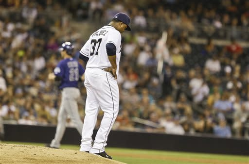 Rockies hand Padres 10th straight loss, 4-2
