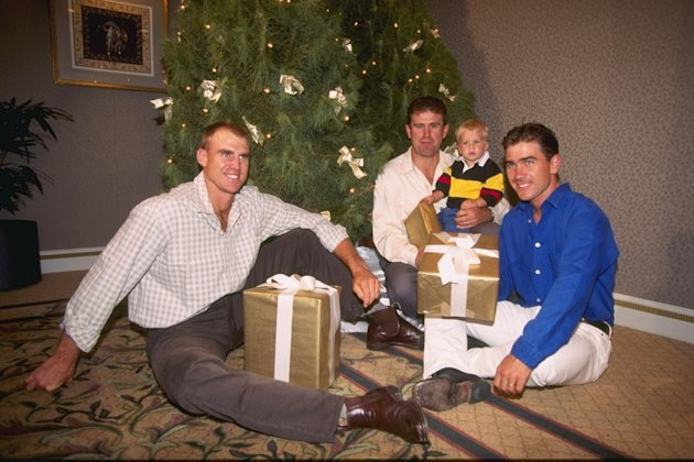 Matthew Hayden, Mark Taylor and Justin Langer