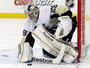Fleury stops 33 shots, Penguins beat Avs 5-1