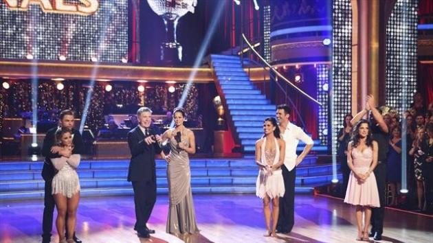 The finalists of 'Dancing with the Stars: All-Stars,' with show co-hosts Tom Bergeron and Brooke Burke Charvet, Nov. 26, 2012 -- ABC
