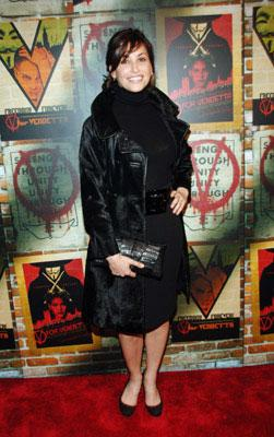Gina Gershon at the New York premiere of Warner Bros. Pictures' V for Vendetta
