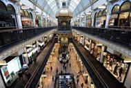 This file photo shows shoppers filling the Queen Victoria Building's prestigious retail outlets in Sydney, in May. Australia's unemployment rate rose to 5.1 percent in May, latest data showed, despite the creation of 38,900 jobs