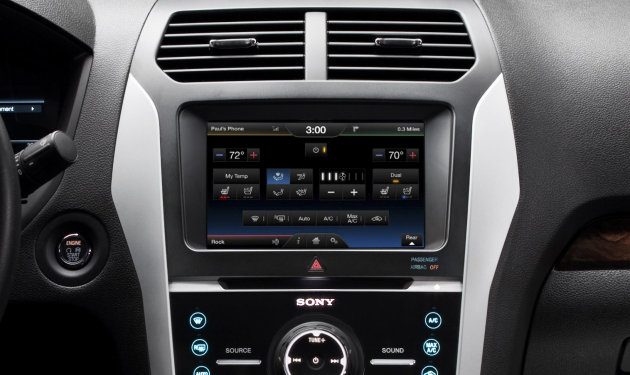 This image provided by Ford Motor Co., shows the new touch-screen interface featuring new simpler graphics and controls that are easier to use. Customers will experience significantly faster touch-screen response times, one of the top requests from owners.(AP Photo/Ford Motor Co.)