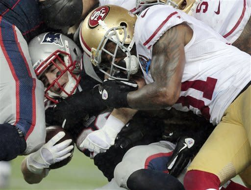 49ers clinch playoff berth, 41-34 over Patriots