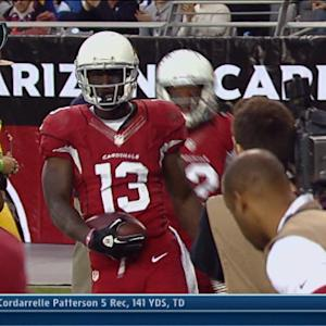 Arizona Cardinals wide receiver Jaron Brown 32-yard reception