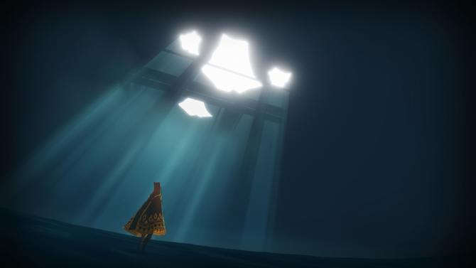 """This undated publicity photo released by thatgamecompany/Sony Computer Entertainment America shows a scene from the video game, """"Journey.""""  Austin Wintory's nomination for the artsy PlayStation 3 game """"Journey"""" marks the first time a game score has been nominated for a Grammy. Wintory is facing John Williams and his score for """"The Adventures Of Tintin"""" at the Feb. 10, 2013 ceremony, as well as the scores to """"The Artist"""" by Ludovic Bource, """"Hugo"""" by Howard Shore, """"The Dark Knight Rises"""" by Hans Zimmer and """"The Girl With The Dragon Tattoo"""" by Trent Reznor and Atticus Ross. (AP Photo/thatgamecompany/Sony Computer Entertainment America)"""