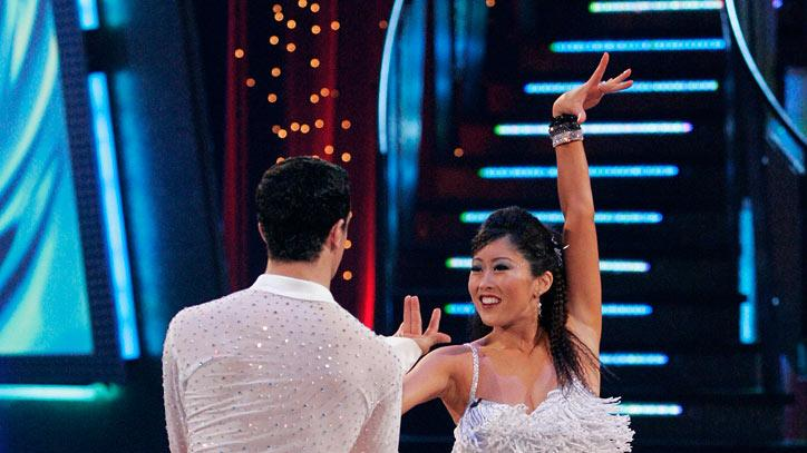 Mark Ballas and Kristi Yamaguchi perform a dance on the sixth season of Dancing with the Stars.