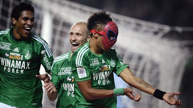 FOOTBALL Ligue 1 2012 Saint-Etienne Aubameyang Spiderman
