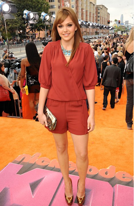 """Friday Night Lights"" actress (and star of the upcoming film ""Prom"") Aimee Teegarden sports stunning new red locks at Nickelodeon's 2011 Kids' Choice Awards. Nickelodeon's 24th Annual Kids' Choice Awa"