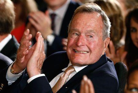 Former U.S. President Bush, 90, remains in Houston hospital: spokesman