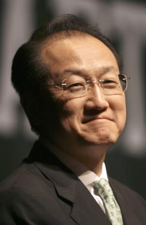FILE - In this March 2, 2009 file photo, Dr. Jim Kim is introduced as the next president of Dartmouth College in Hanover, N.H. President Barack Obama will nominate Kim to head the World Bank, a surprise pick for the international financial institution's top job, senior administration officials said.  (AP Photo/Jim Cole, File)