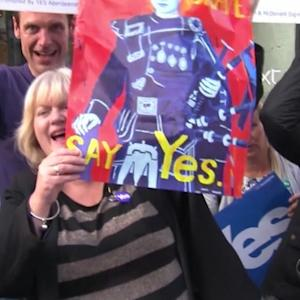 Scottish independence vote splitting families, drinkers