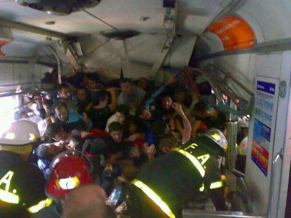 Así quedó la formación 3772 tras el accidente