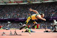 South African Oscar Pistorius, pictured at the Olympic Games on August 4, 2012, beat Arab horse Maserati in the 'run like the wind' race here on Wednesday