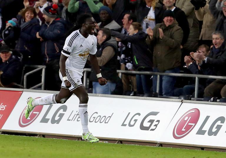 Swansea's Gomis 'well' after on-pitch collapse