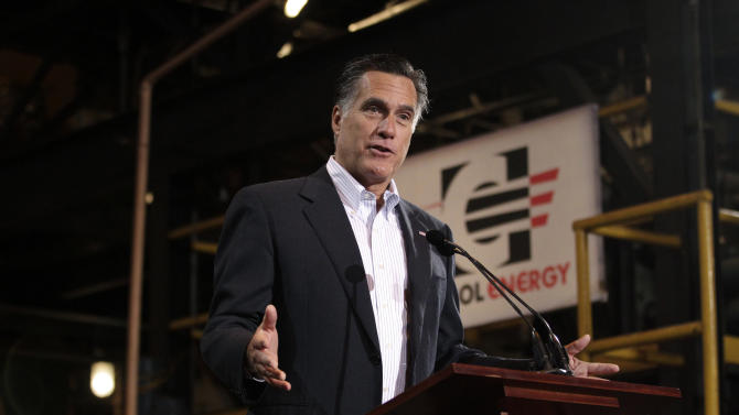 In this photo taken Monday, April 23, 2012, Republican presidential candidate, former Massachusetts Gov. Mitt Romney speaks at Consol Energy Research and Development Facility in South Park Township, Pa. Mitt Romney's roadmap for governing the country is so vague that it has even Republican allies questioning his intentions. It's a sentiment some Republicans decline to express so publicly. But it's one that accurately describes the presumptive Republican presidential nominee's general aversion to detail. (AP Photo/Jae C. Hong)