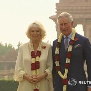 British royals meet Indian president in New Delhi