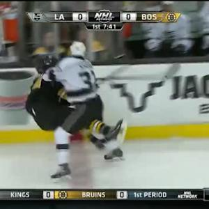 Nick Shore Hit on Adam McQuaid (12:21/1st)
