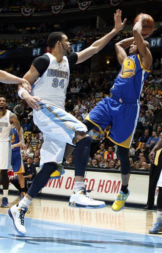 Faried leads Nuggets past Warriors 107-100