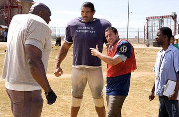 Bob Sapp , Dalip Singh , Adam Sandler and Chris Rock in Paramount Pictures' The Longest Yard