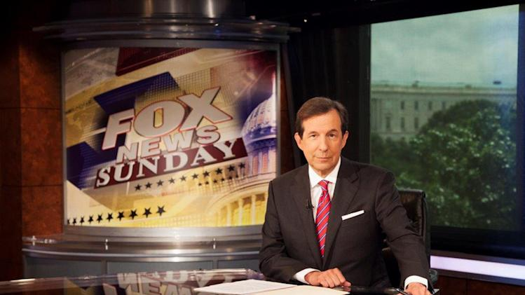 "This photo provided by FOX News Channel shows Chris Wallace, who marks his 10 year anniversary hosting ""FOX News Sunday"" this weekend. (AP Photo/FOX News Channel)"