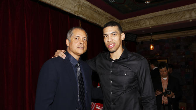 IMAGE DISTRIBUTED FOR NBA ALL STAR BRUNCH - BDA CEO Bill Duffy, left, and San Antonio Spurs shooting guard Danny Green pose for a photo during the 2013 NBA All Star Weekend at the House of Blues on Sunday, Feb. 17, 2013 in Houston. (Photo by Aaron M. Sprecher/Invision for BDA Sports-BFI All Star Brunch/AP Images)