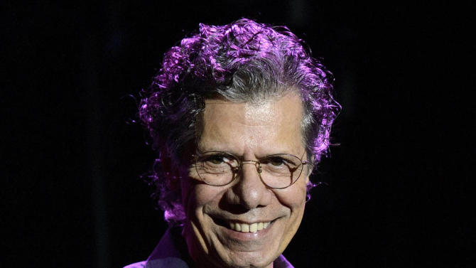 FILE - In this July 1, 2012 file photo, U.S. pianist Chick Corea during the 46th Montreux Jazz Festival, in Montreux, Switzerland. Last year, the 71-year-old jazz pianist and composer released four major recordings covering a wide gamut of music _ electric and acoustic, originals and standards, everything from solo piano improvisations to a concerto for jazz quintet and chamber orchestra. (AP Photo/Keystone, Laurent Gillieron, file)