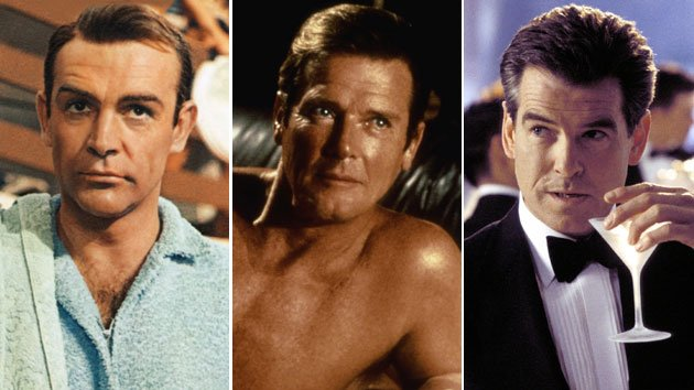 Sean Connery, Roger Moore, and Pierce Brosnan