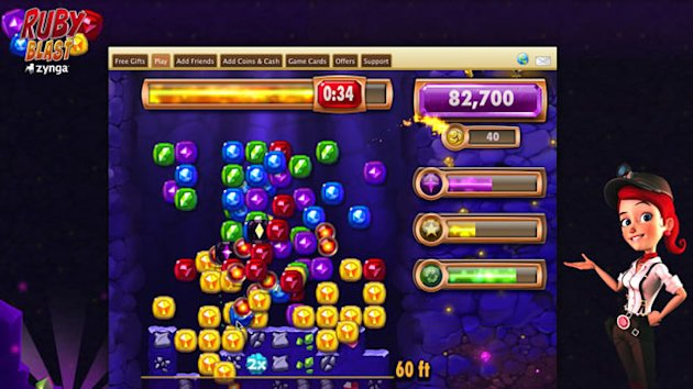 Zynga&#39;s Ruby Blast Arcade Game Hits Facebook (ABC News)
