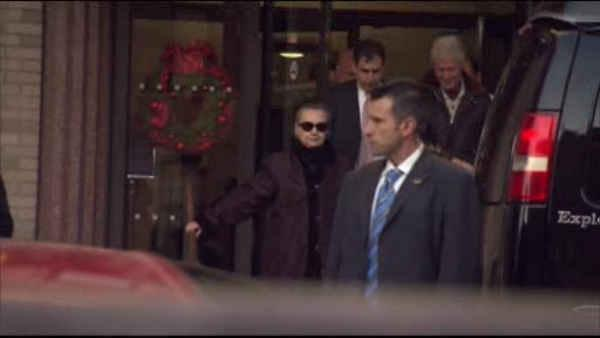 Hillary Clinton home after being released from hospital