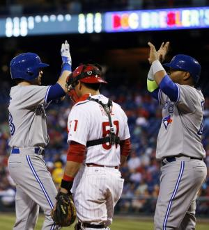 Jays blow 5-run lead, but beat Phils 6-5