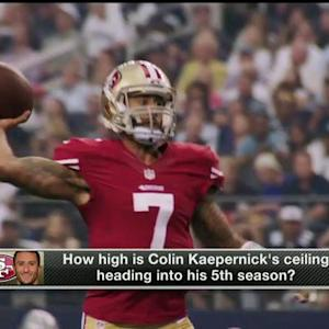 What is San Francisco 49ers quarterback Colin Kaepernick's ceiling as an NFL QB?