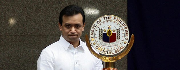 Antonio 'Sonny' Trillanes IV (born August 6, 1971, Manila) is a former Navy Lieutenant Senior Grade elected as Philippins senator in the 2007 elections. (Photo by NPPA)