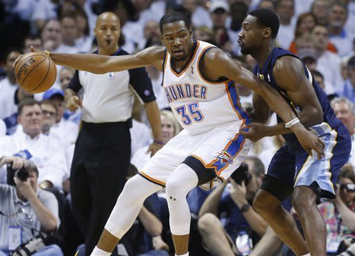 Grizzlies edge Thunder 88-84, reach 1st West final