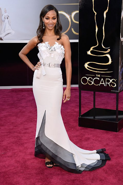 85th Annual Academy Awards - People Magazine Arrivals: Zoe Saldana