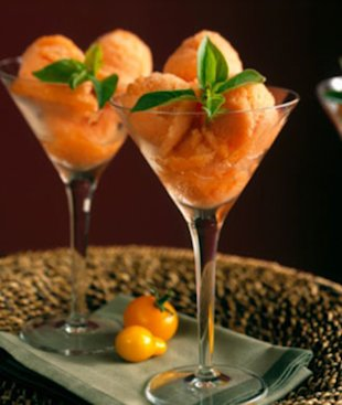 Tomato sorbet