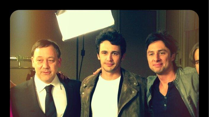 Sam Raimi, James Franco and Zach Braff